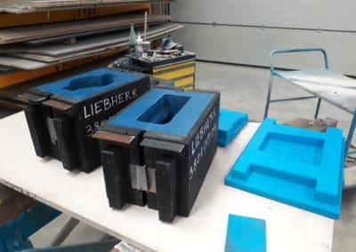Outillage fonderie pour réalisation de contrepoids en fonderie