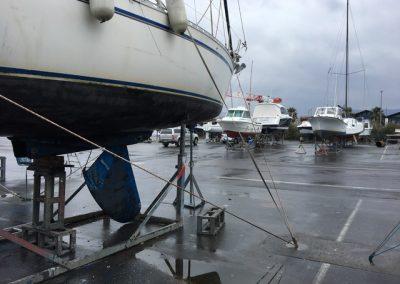 Voilier Gib Sea 362 avec dérive endommagée