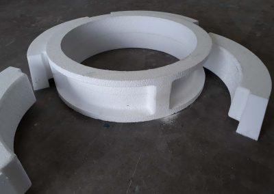 Usinage de modèle en mousse PU pour réalisation en fonderie