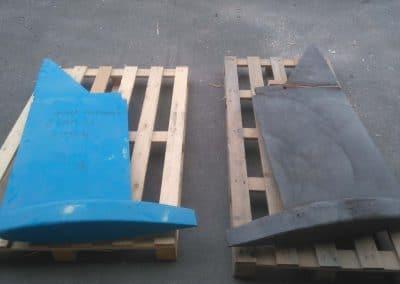 modèle et pièce sortie de fonderie de quille