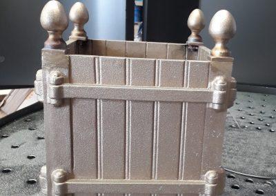 vase bronze réalisé en fonderie