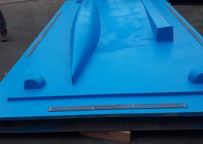 Détail outillage de fonderie pour fabrication quille de voilier