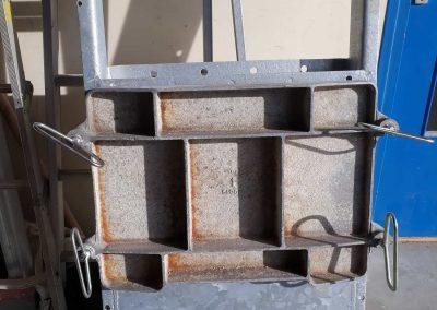 porte de trappe en aluminium pour silo